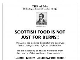 The Alma - Burns week