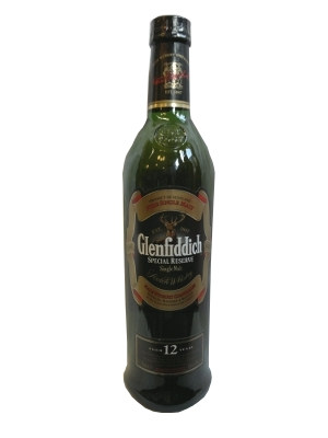 bottle of Glenfiddich 12 Year Old