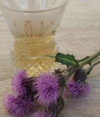 whisky in a thistle glass, and a thistle